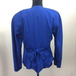 Mondi Vintage Blue Blazer with Bow Detail BB74
